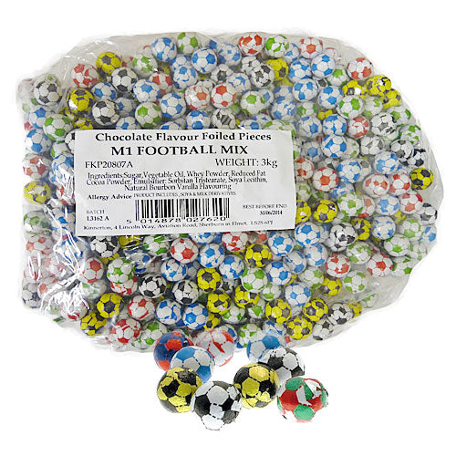 Chocolate Footballs - 3kg Bulk Bag
