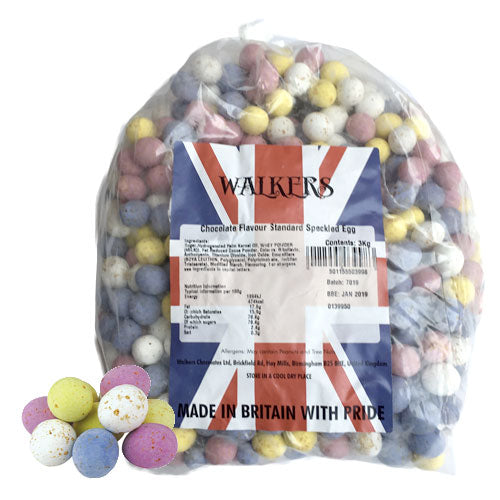 Milk Chocolate Speckled Mini Eggs - 3kg Bulk Bag