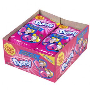 Chupa Chups Bubblegum Cotton Gum - 12 Count