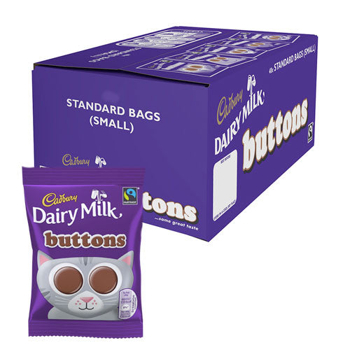 Cadbury Dairy Milk Chocolate Buttons - 60 Count