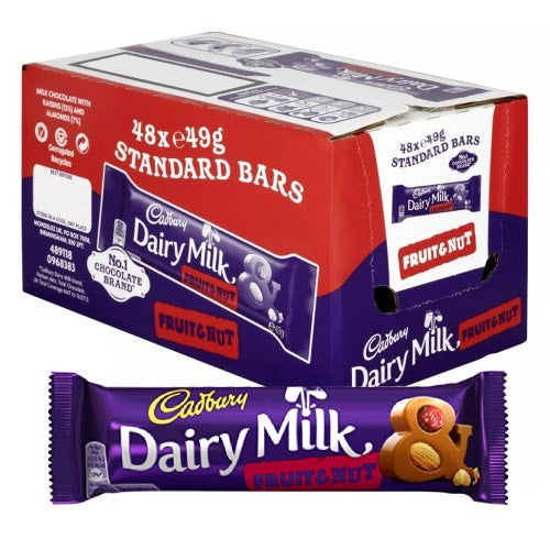 Cadbury Fruit & Nut Chocolate Bar - 48 Count