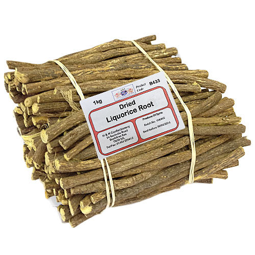 Dried Liquorice Root - 1kg Bulk Bag