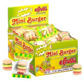 Sour Mini Gummi Burgers - 60 Count