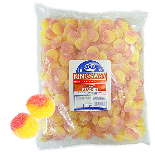 Fizzy Peaches - 3kg Bulk Bag