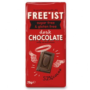 Free'ist Sugar Free Dark Chocolate Bars - 12 Count