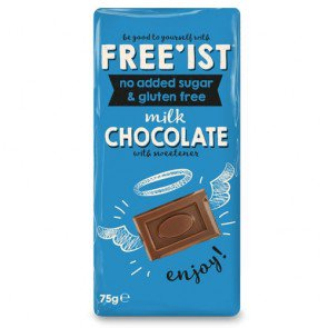 No Added Sugar Milk Chocolate Bars - 12 Count