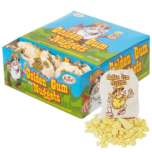 Gold Nuggets Bubblegum - 24 Bags