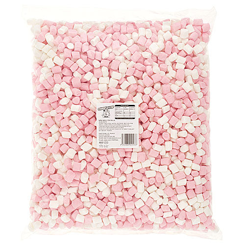 Halal Mini Pink & White Marshmallows - 1kg