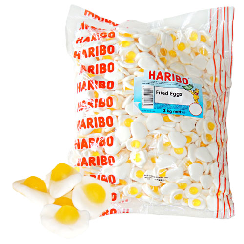 Haribo Fried Eggs - 3kg Bulk Bag