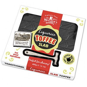 Walkers Liquuorice Toffee Slab & Hammer - 400g