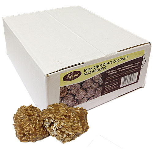 Milk Chocolate Coconut Macaroons 2kg Box Zap Sweets