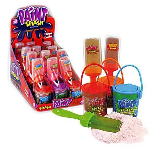paint splash lollipops