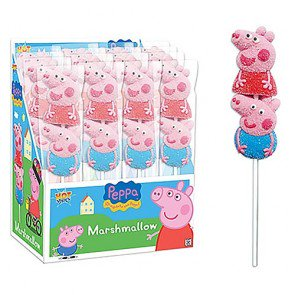 Peppa Pig Marshmallow Lollipop - 16 Count