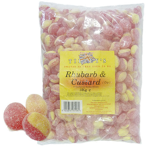 Rhubarb & Custard Unwrapped - 3kg Bulk Bag