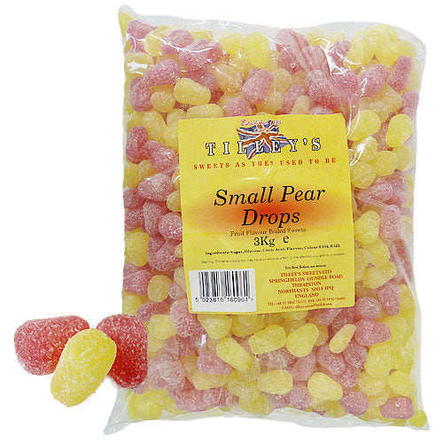 Small Pear Drops Unwrapped - 3kg Bulk Bag