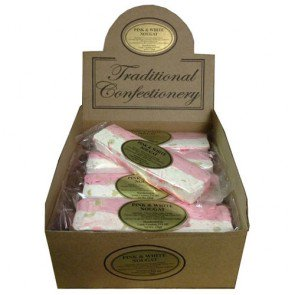 Stanton Traditional Pink & White Nougat Bars - 16 Count