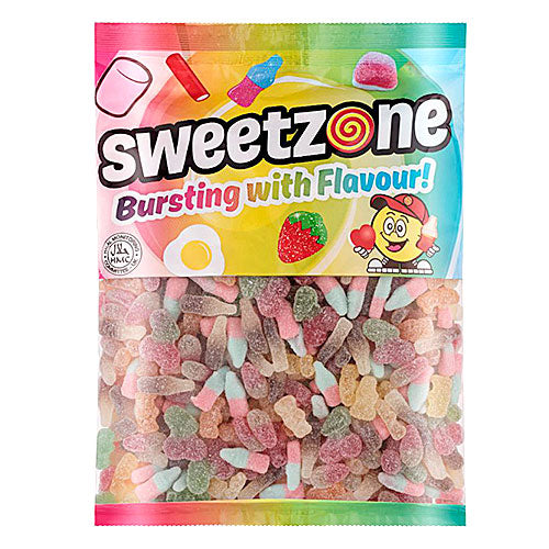 Halal Fizzy & Sour Tangy Mix - 1kg Bulk Bag