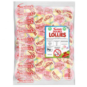 Swizzels Matlow Double Lollies - 3kg Bulk Bag