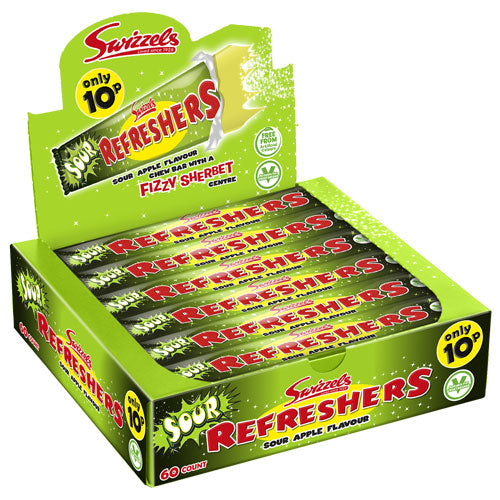 Giant Sour Apple Refreshers - 60 Chew Bars
