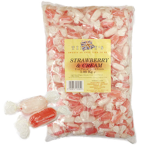 Strawberry & Cream Wrapped - 3kg Bulk Bag