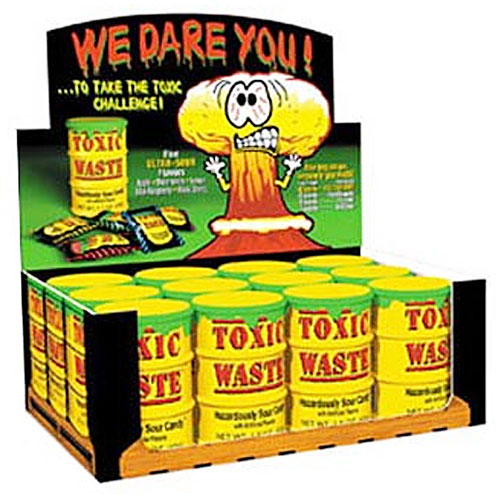 Toxic Waste Sour Candy - 12 Drums