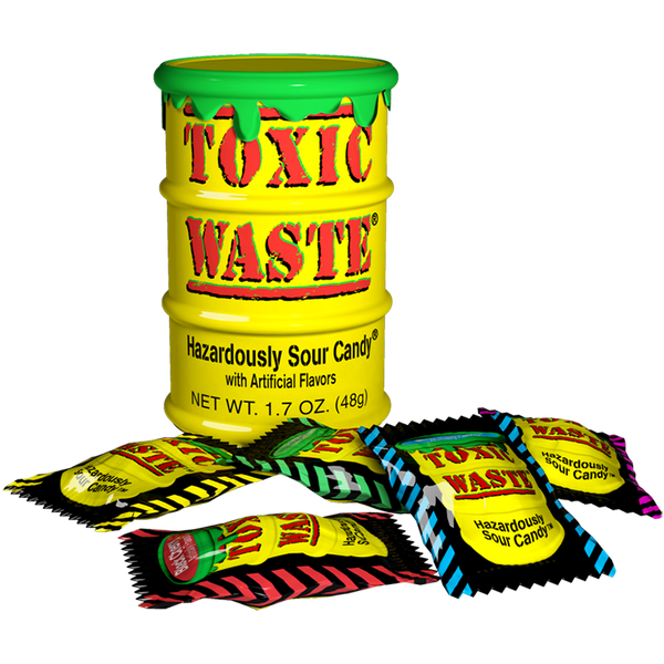 Toxic Waste Extreme Sour Candy 42g Yellow Drum