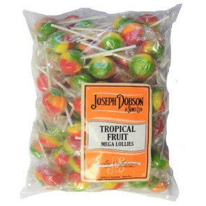 Joseph Dobson Tropical Fruit Mega Lollies - 1.875kg