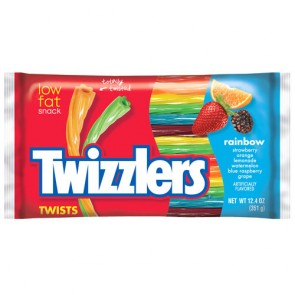 Twizzlers Rainbow Liquorice Twists - 351g