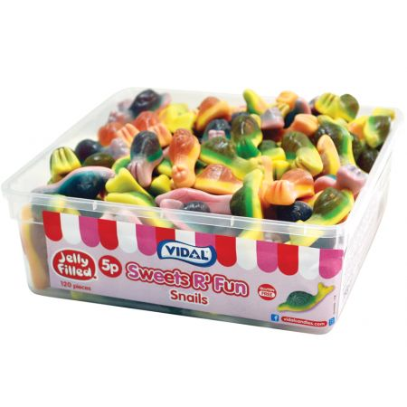 Vidal Jelly Filled Snails - 120 Count