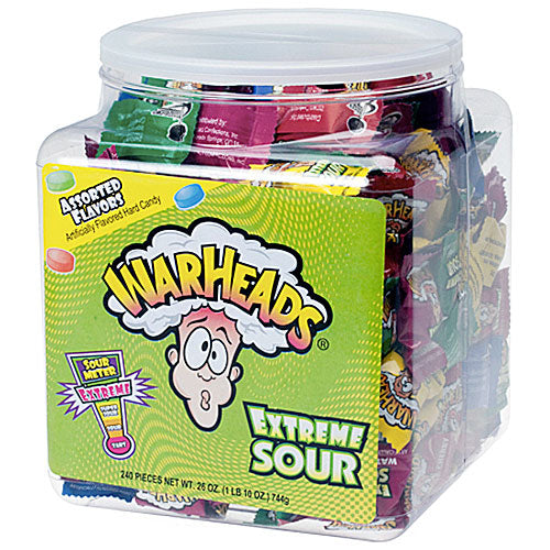 Warheads Extreme Sour Tub - 240 Count