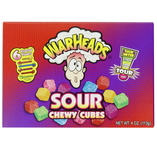Warheads Sour Chewy Cubes - 12 Count