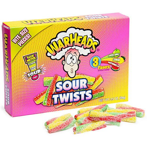 Warheads Sour Twists - 12 Count