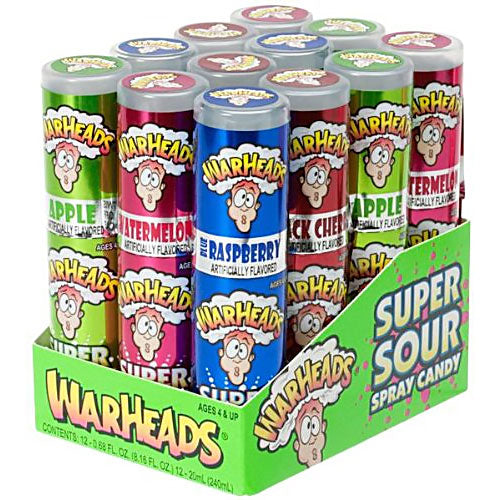Warheads Super Sour Spray - 12 Count