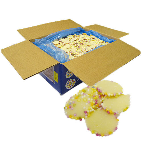 Small White Chocolate Jazzies - 3kg Bulk Box