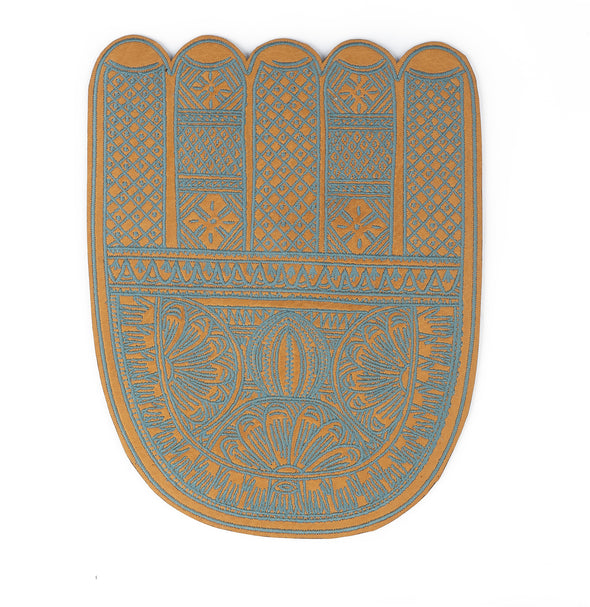 Embroidered Leather Mouse Pad