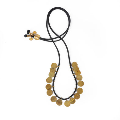 Floos Simple Necklace  Black