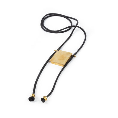 Kitab Leather Necklace Black