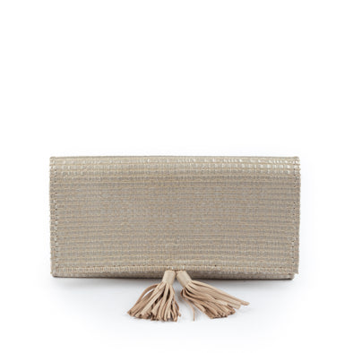 Weaved Leather Baguette  Bag