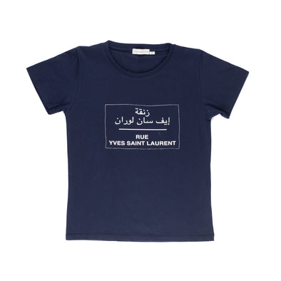 Rue YSL  Women's  Round Neck T Shirt