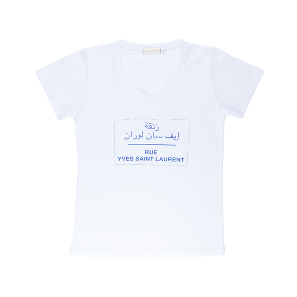 Rue YSL Women's V-Neck T Shirt