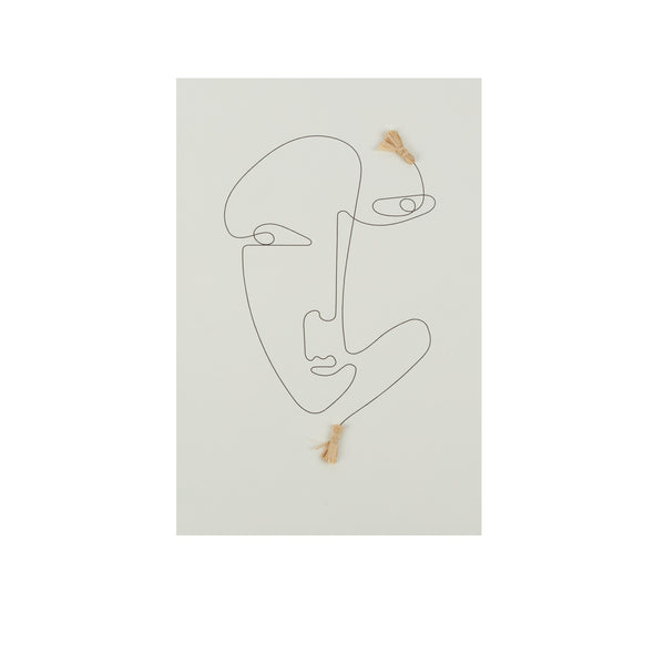 One Line Face Unframed