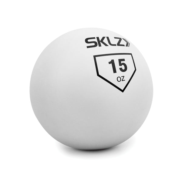 side view of White 15 oz contact training ball