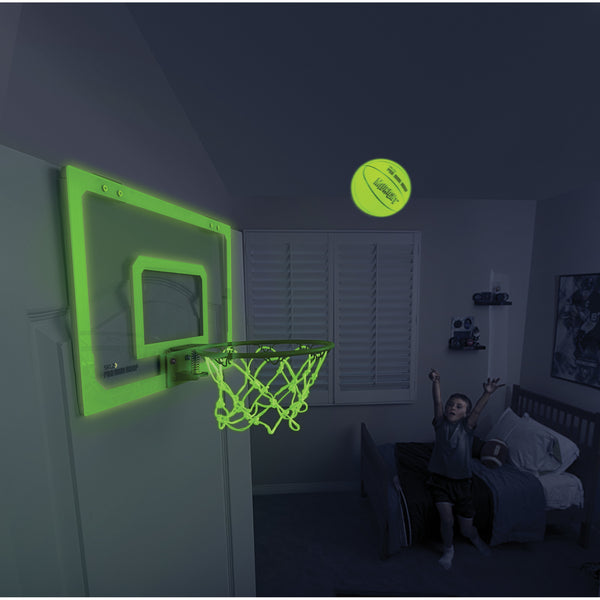 Green glow in the dark mini basketball