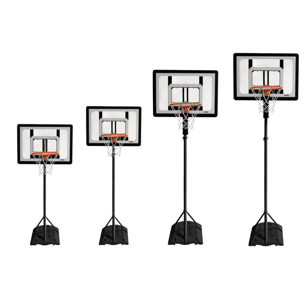 4 black basketball system at different sizes