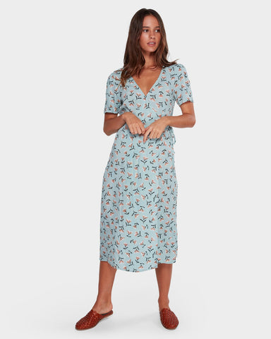BLUEBELL WRAP DRESS