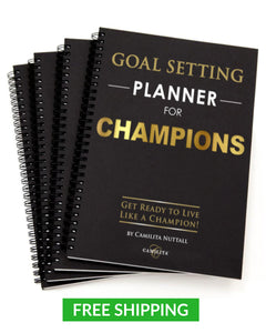 GOAL SETTING PLANNER FOR CHAMPIONS | PACK OF 4