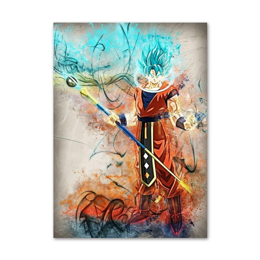 Dragon Ball Super <br>Goku Super Saiyan Blue Painting
