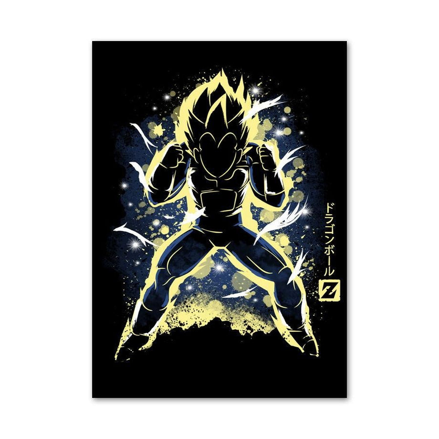 Dragon Ball Z <br>Vegeta Transformation Painting