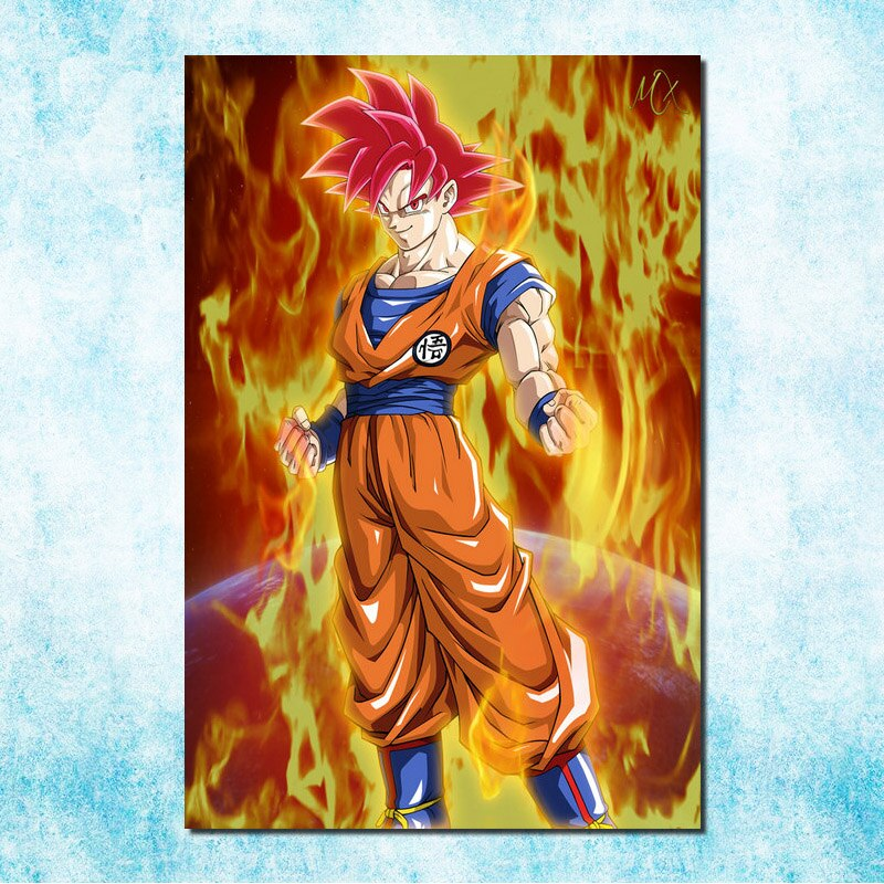 Dragon Ball Super <br>Goku Super Saiyan God Painting