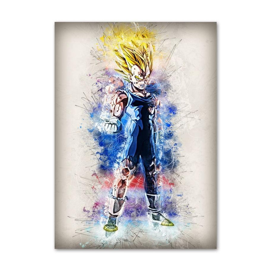 Dragon Ball Z <br>Vegeta Super Saiyan Painting